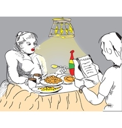 People eating vector