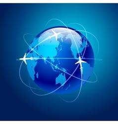 planet of aircraft flight vector image