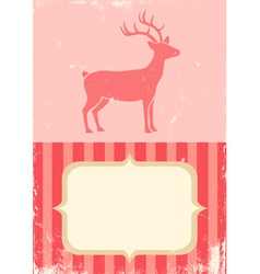 retro of christmas deer vector image vector image