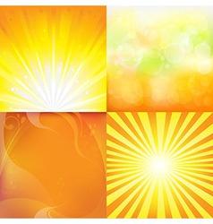 Sunburst Backgrounds vector image vector image