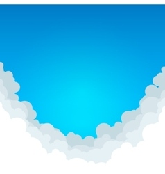 Abstract Blue Background with Clouds vector