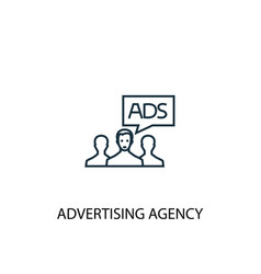 advertising agency concept line icon simple vector image