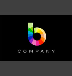 b alphabet letter mosaic design vector image