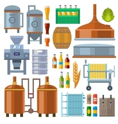 Beer factory production vector