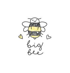 Big bee logo vector