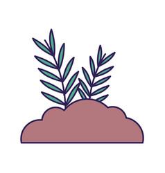 Bush leaves branch nature icon vector