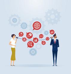Business communication connection concept vector