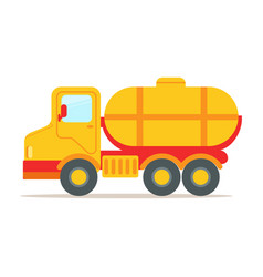 cargo truck with tank for transporting liquids vector image