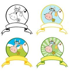 Cartoon cow design vector
