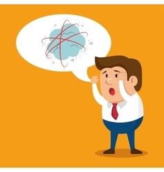 cartoon man business mental attack vector image