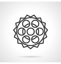Chain sprocket line icon vector