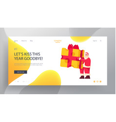 Christmas party website landing page cheerful vector