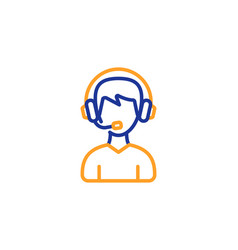 Consultant service line icon call center sign vector