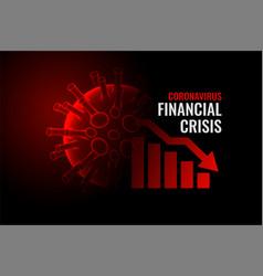 Coronavirus covid-19 financial crisis economy vector