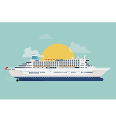 Cruise Liner Ship Icon vector