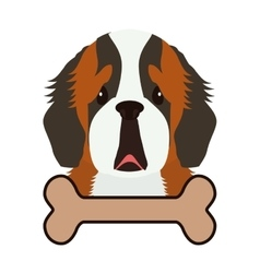 cute dog and bone vector image