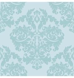 Damask seamless patternpistachio color vector image