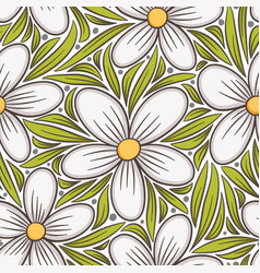 decorative floral seamless pattern hand drawn vector image