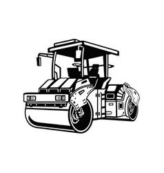 Detailed asphalt steam roller - compactor vector
