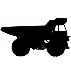 dumper truck silhouette vector image