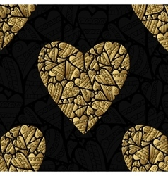 Elegant black golden seamless pattern vector image