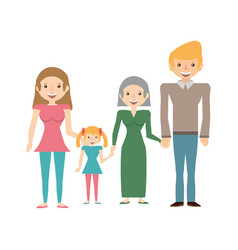 family portrait relationships vector image vector image