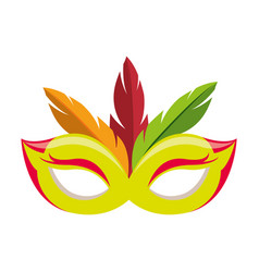Festival feather mask vector