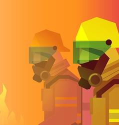 Firefighter heroes vector