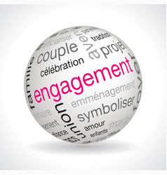 French engagement theme sphere vector