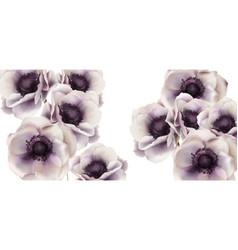 Gerbera flowers card watercolor delicate vector