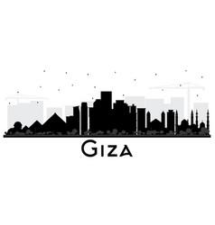 Giza egypt city skyline silhouette with black vector