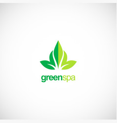 green leaf spa business logo vector image