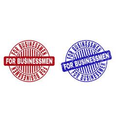 Grunge for businessmen textured round watermarks vector