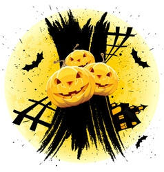 grungy halloween background vector image