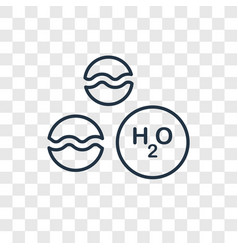 H2o concept linear icon isolated on transparent vector