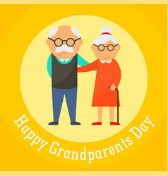 happy grandparents day card background flat style vector image