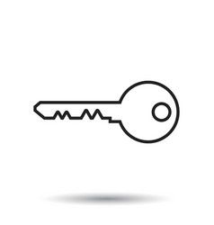Key icon in flat style isolated on white vector