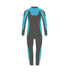 Man Wetsuit vector image