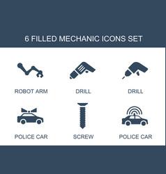 Mechanic icons vector