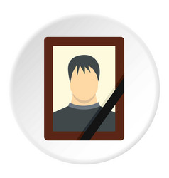 Memory portrait icon circle vector