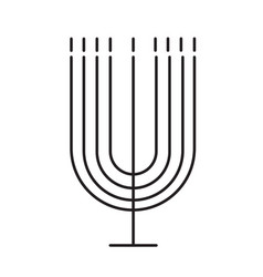 menorah line icon vector image