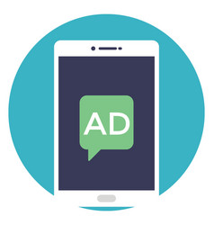 Mobile advertisement vector