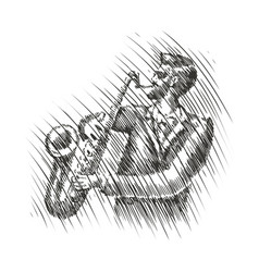 musician plays saxophone live music musical vector image