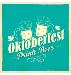 Oktoberfest celebration background vector image