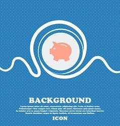 Piggy bank - saving money icon sign Blue and white vector