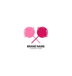 Planet candy logo design inspiration vector
