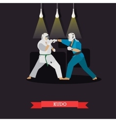 Poster martial arts kudo fighters in vector