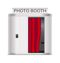Realistic 3d detailed photo booth cabin vector