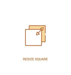 Resize square concept 2 colored icon simple line vector