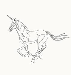 Robot unicorn vector